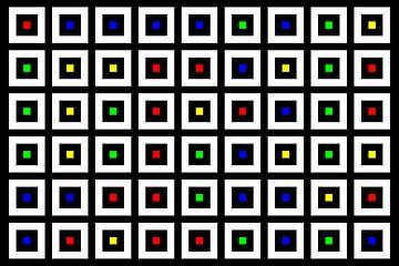 Nested | Center | 09x06 | N=02 | Random #04 | RGBY van Gerhard Haberern