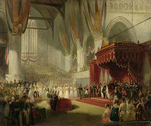 De inhuldiging van koning Willem II, Nicolaas Pieneman van Marieke de Koning