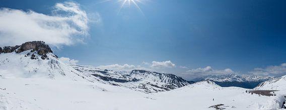 Sneeuwlandschap Großglockner Hoghalpstrasse, Oostenrijk van Martin Stevens