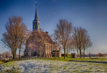 Krommenie die reformierte Kirche am Krommeniedijk von Evelien van der Horst