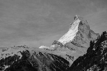 Das Matterhorn in Schwarz-Weiß von Mark Thurman