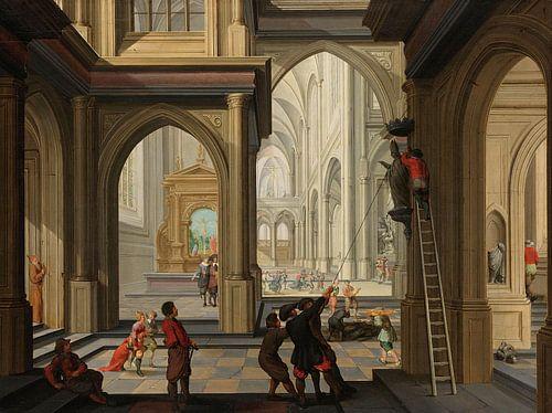 Beeldenstorm in een kerk, Dirck van Delen von Meesterlijcke Meesters
