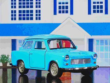 Kinderzimmer: Blauer Trabbi von Jean-Louis Glineur alias DeVerviers