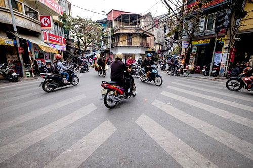 Verkeer in Hanoi Vietnam