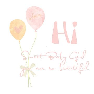 Hi, Baby Girl van Yvonne Blokland