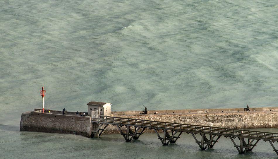 Oceaan pier bij Le Tréport van Harrie Muis