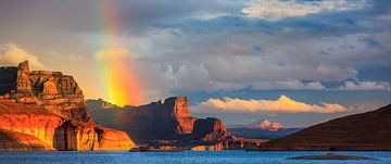 Regenbogen über der Padre Bay, Lake Powell, Utah von Henk Meijer Photography