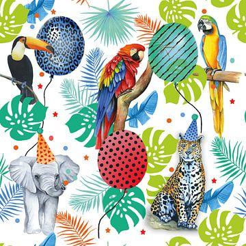 Tropische grappige dieren van Geertje Burgers