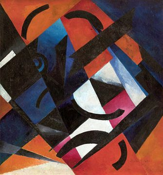 Kleurenontwerp, Aleksandra Ekster, 1922 van Atelier Liesjes