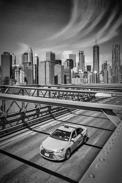Urban weergave van de Brooklyn Bridge van Melanie Viola