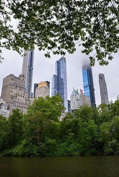 Doorkijkje op Manhattan vanuit Central Park van Marlies Reimering