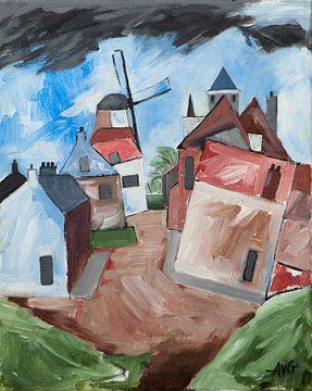 Willemstad in Nordbrabant von Antonie van Gelder Beeldend kunstenaar