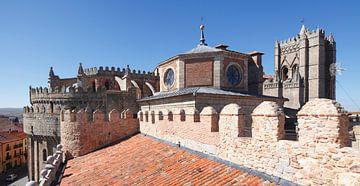 Catedral del Salvador, Kathedrale mit Stadtmauer, Avila, Castilla y Leon, Kastilien-Leon, Spanien, E