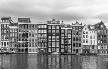 het Rokin in Amsterdam zwart wit van Ivo de Rooij