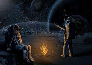 Leben auf dem Mond von Thomas Wijngaard