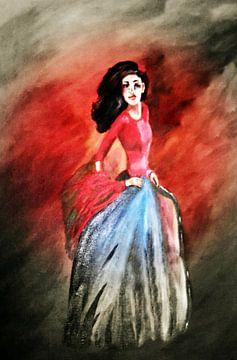 Flamenco Tänzerin II van Vera Markgraf