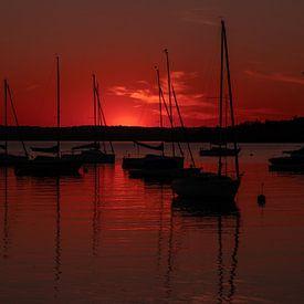 Sonnenuntergang in Herrsching am Ammersee von Einhorn Fotografie