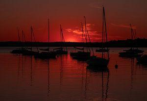Sonnenuntergang in Herrsching am Ammersee