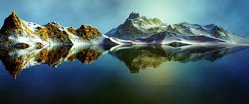 Besneeuwde bergen 5 van Angel Estevez