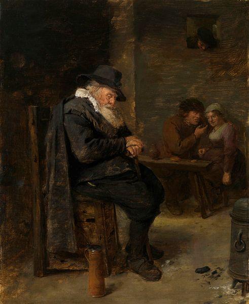 Alter Mann in einer Kneipe, Adriaen Brouwer von Meesterlijcke Meesters