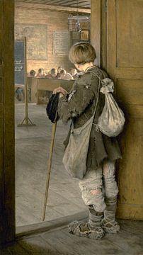An den Schultüren, Nikolay Bogdanov-Belsky - 1897