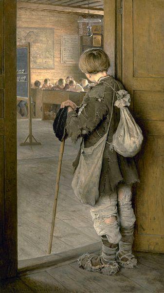 An den Schultüren, Nikolay Bogdanov-Belsky - 1897 von Het Archief