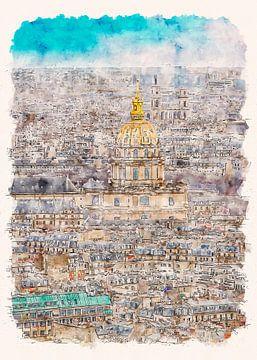 Paris Les Invalides van Peter Roder
