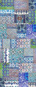 Collage van antieke Iznik tegels uit Istanbul, Turkije