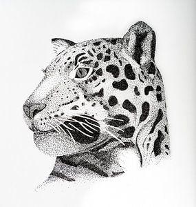 Luipaard - Vierkant van Lianne Landsman