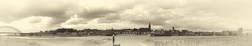 Panorama Nijmegen sepia