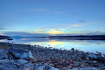 L'heure bleue au lac Starnberg sur Roith Fotografie