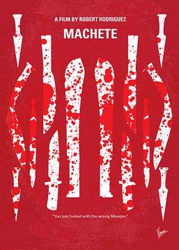No114 My Machete minimal movie poster van Chungkong Art