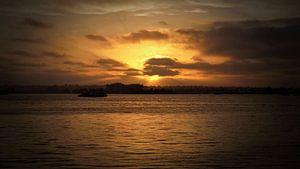 Sunset in San Diego van Marek Bednarek