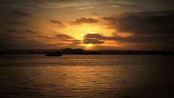 Sunset in San Diego van