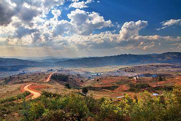 Madagaskar landschap sur Dennis van de Water