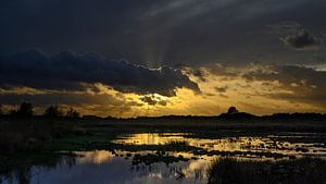 Sonnenuntergang Haaksbergerveen von Laurents ten Voorde