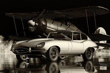 Jaguar E Type Klassieke Automobiel Cultuur