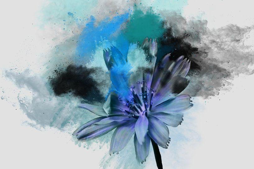 Compositie in Blauw van Harry Stok