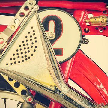 Detail eines klassisches Ducati Cucciolo sur Martin Bergsma