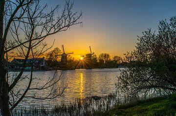 Zonsondergang Weesper Molens von Robin Voorhamm