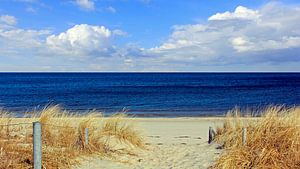 Strandaufgang im März van