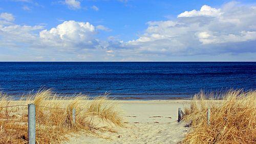 Strandaufgang im März