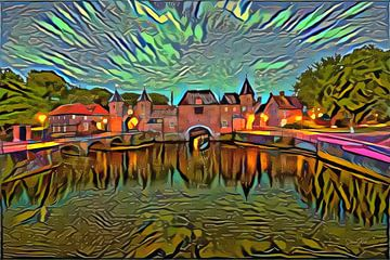 Buntes Werk von Amersfoort: Tor im Stile Picassos von Slimme Kunst.nl