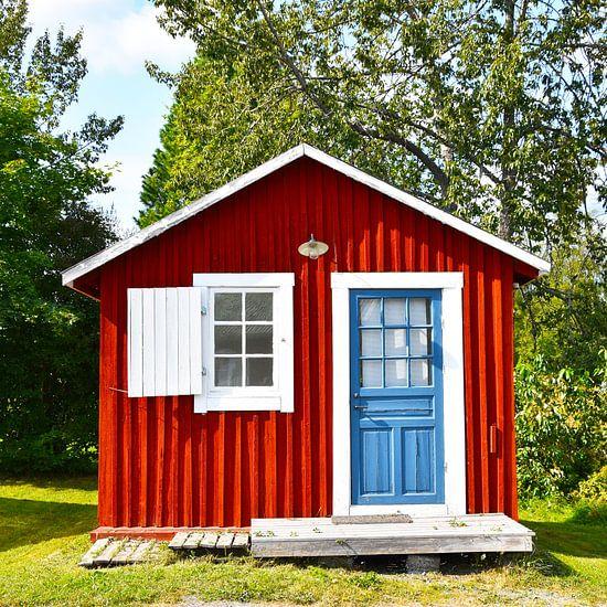 Rood huis in Zweden