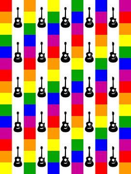 DOES Pop Art The Guitars von Jan Willem van Doesburg