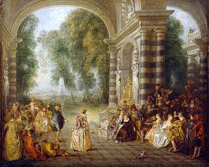 Jean-Antoine Watteau - Les Plaisirs du Bal van