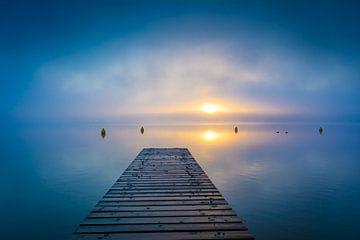 Mist op het meer van Martin Wasilewski