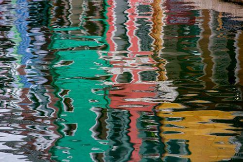 Spiegelung in Burano von