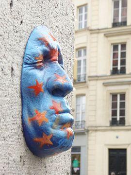 Gezicht in Parijs van Floor van der Boon