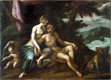 Hans von Aachen.Venus und Adonis